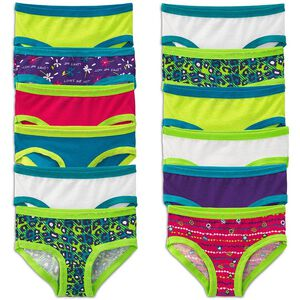 Girls' 12 Pack Cotton Hipster