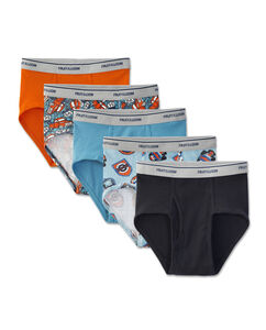 Boys' 5 Pack Print/Solid Fashion Brief