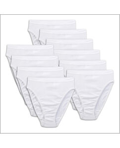 Women's 10 Pack Cotton White Hi-cuts