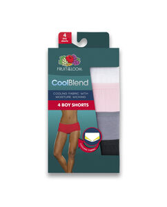 Women's 4 Pack CoolBlend Boy Short