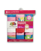 Girls' 9 Pack Assorted Low Rise Brief Assorted