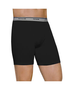 Men's 4 Pack Black/Gray Boxer Briefs Extended Sizes