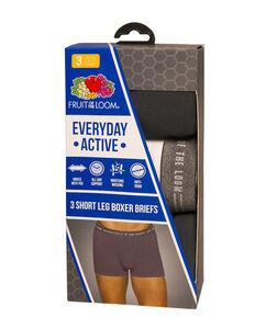 Men's 3 Pack Everyday Active Short Leg Boxer Brief