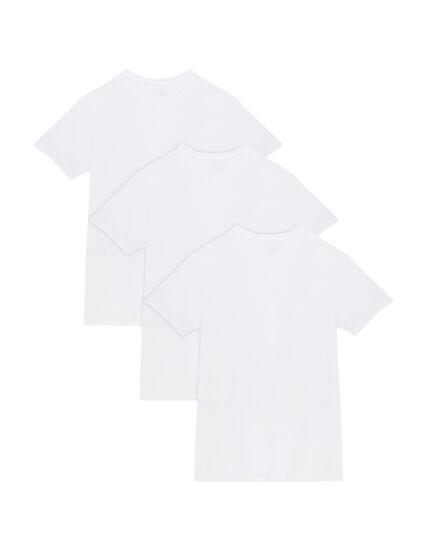 Men's 3 Pack Tall Man White Crew T-Shirt T-Shirt White