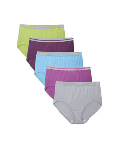 Fit for Me by Fruit of the Loom Women's 5 Pack Heather Briefs