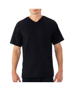 Men's EverSoft Men's Short Sleeve V Neck T Shirt Extended Sizes