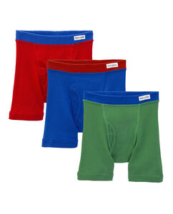Toddler Boys' 3 Pack Covered Waist Band Boxer Brief