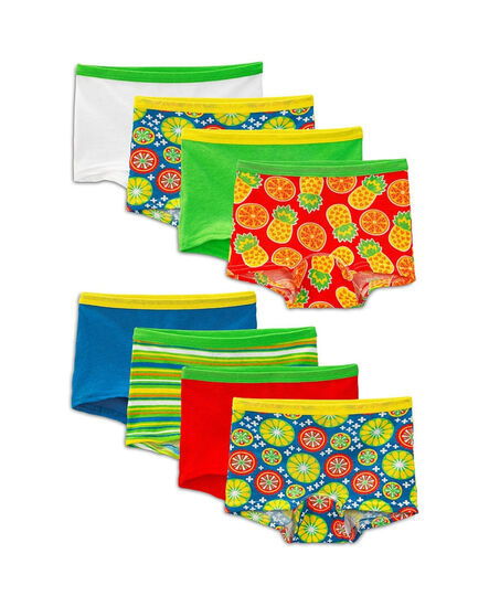 Girls' 8 Pack Assorted Boy Short Assorted Print and Color
