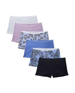 Women's 6 Pack Cotton Shortie