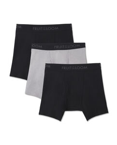 Men's 3 Pack Breathable Black and Gray Boxer Brief
