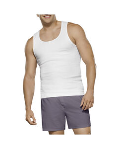 Men's 3 Pack Big Man White A-Shirt