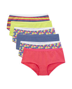 Women's 6 Pack Cotton Assorted Boy Shorts