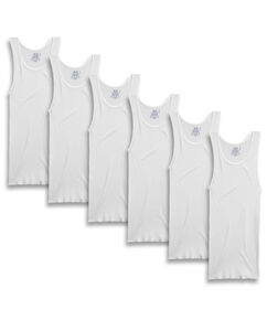 Men's 6 Pack White A-Shirts