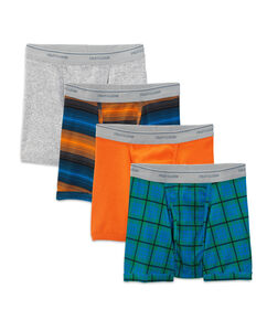 Men's 4 Pack Stripe/Heather Short Leg Boxer Brief Extended Sizes