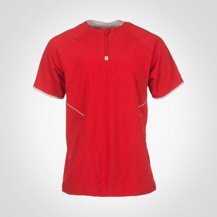 Men's Dri-Power® Short Sleeve 1/4 Zip Pullover TRUE RED/WHITE