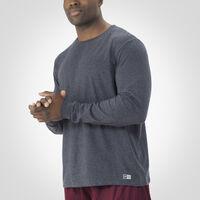Men's Essential Long Sleeve Tee BLACK HEATHER