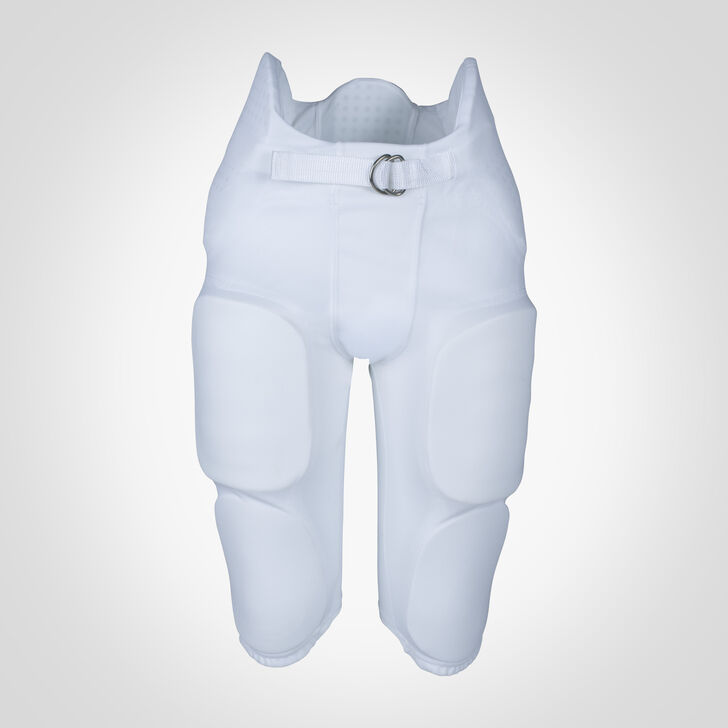 Youth Integrated 7-Piece-Pad Football Pants WHITE