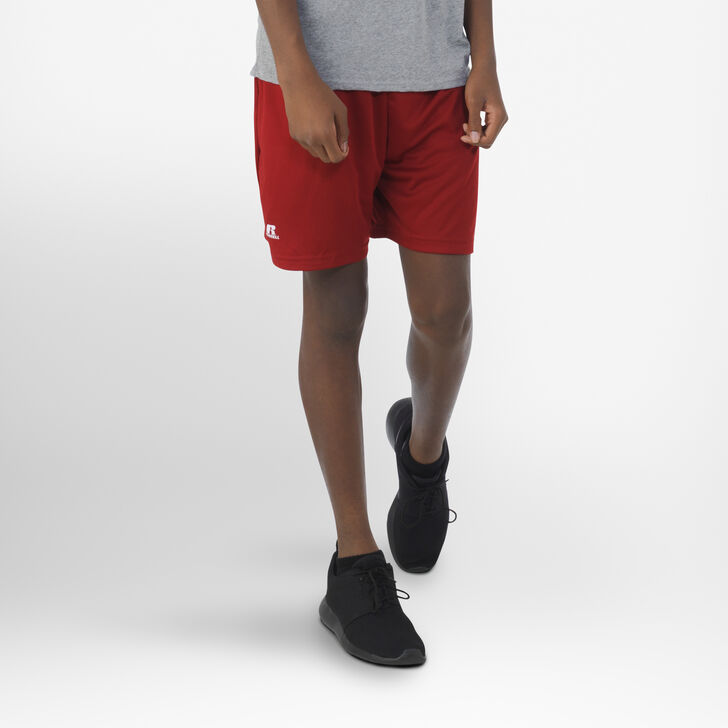 Youth Dri-Power® Essential Performance Shorts with Pockets CARDINAL