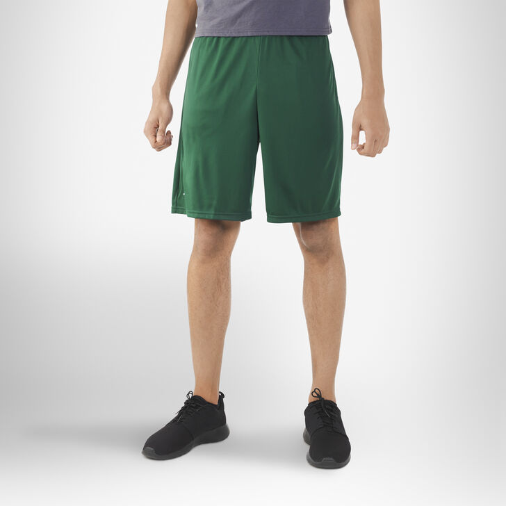 Men's Dri-Power® Essential Performance Shorts with Pockets DARK GREEN