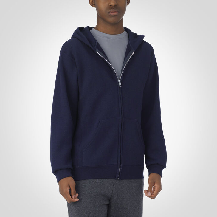 Youth Dri-Power® Fleece Full-Zip Hoodie J.NAVY