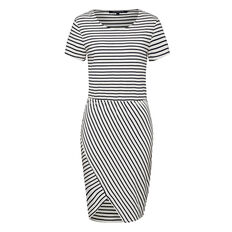 MULTI JAY STRIPE PANEL DRESS