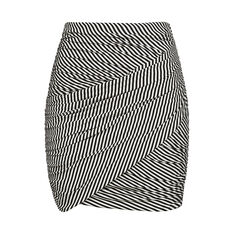 CROSS OVER STRIPE JERSEY SKIRT