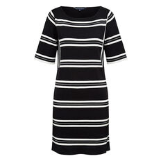 KARLI KNITTED STRIPE DRESS