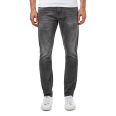 SLIM TAPERED WASHED CHARCOAL JEAN