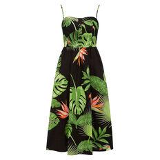 PALM PRINTED DRESS