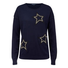 METALLIC STAR PLACEMENT KNIT