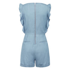 I SAY YES CHAMBRAY PLAYSUIT