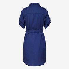 STAYTON COBALT TENCEL DRESS