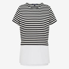 STRIPE SPLICED TEE