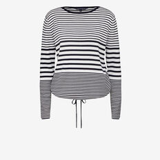 INDIA STRIPE DRAWCORD KNIT