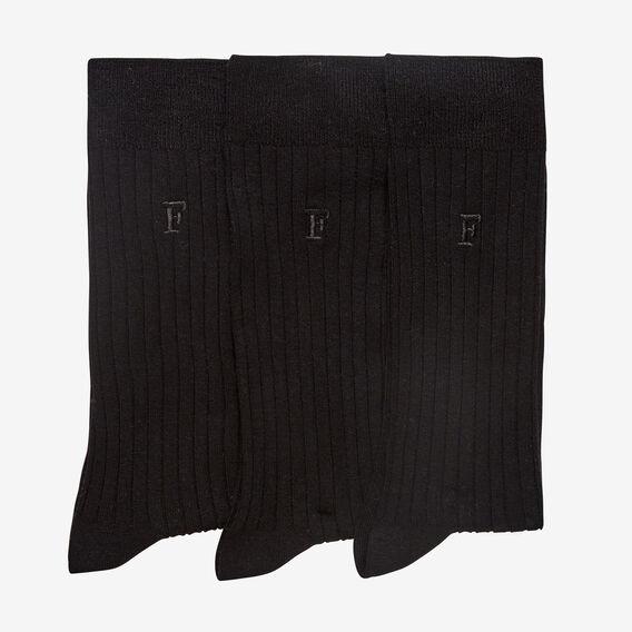 CLASSIC BLACK 3 PACK SOCKS