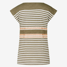 METALLIC STRIPE TEE