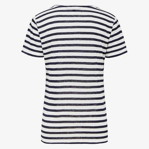 KEEP ME STRIPE LINEN TEE