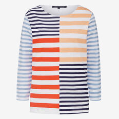 INDIA CHOPPED STRIPE TEE