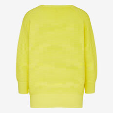 RIBBED COTTON KNIT JUMPER