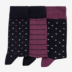 PATTERN 3PK SOCKS