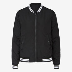 QUILTED REVERSIBLE BOMBER JACKET