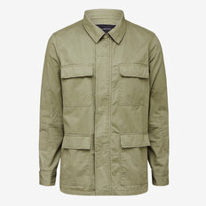 WASHED COTTON WORKER JACKET