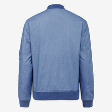 WASHED CHAMBRAY BOMBER