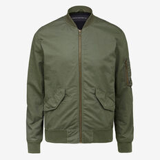 WASHED COTTON BOMBER