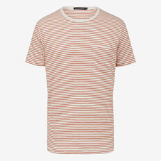 FINE STRIPE CREW NECK T-SHIRT