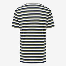 SHADOW STRIPE CREW NECK T-SHIRT