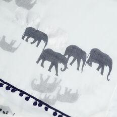 RUNNING ELEPHANT SCARF