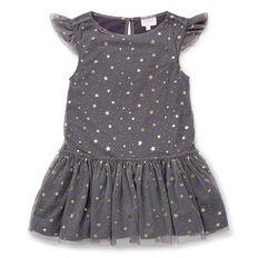 Foil Star Tulle Dress