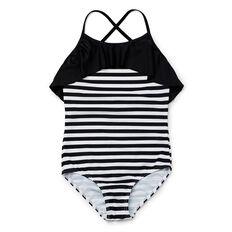 Stripe Frill Bather