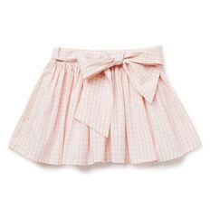 Gingham Bow Skirt